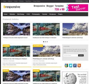 Bresponsive blogger responsive template