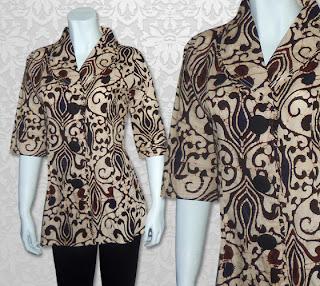 batik kerja modern3 Jenis Jenis Pakaian Wanita Yang Wajib Ada Di Lemari Pakaian