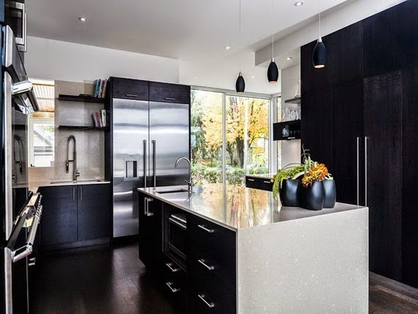 Black Cabinet Kitchen Images