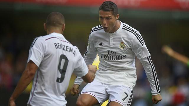 رونالدو يقود ريال مدريد للفوز على فياريال 2-0