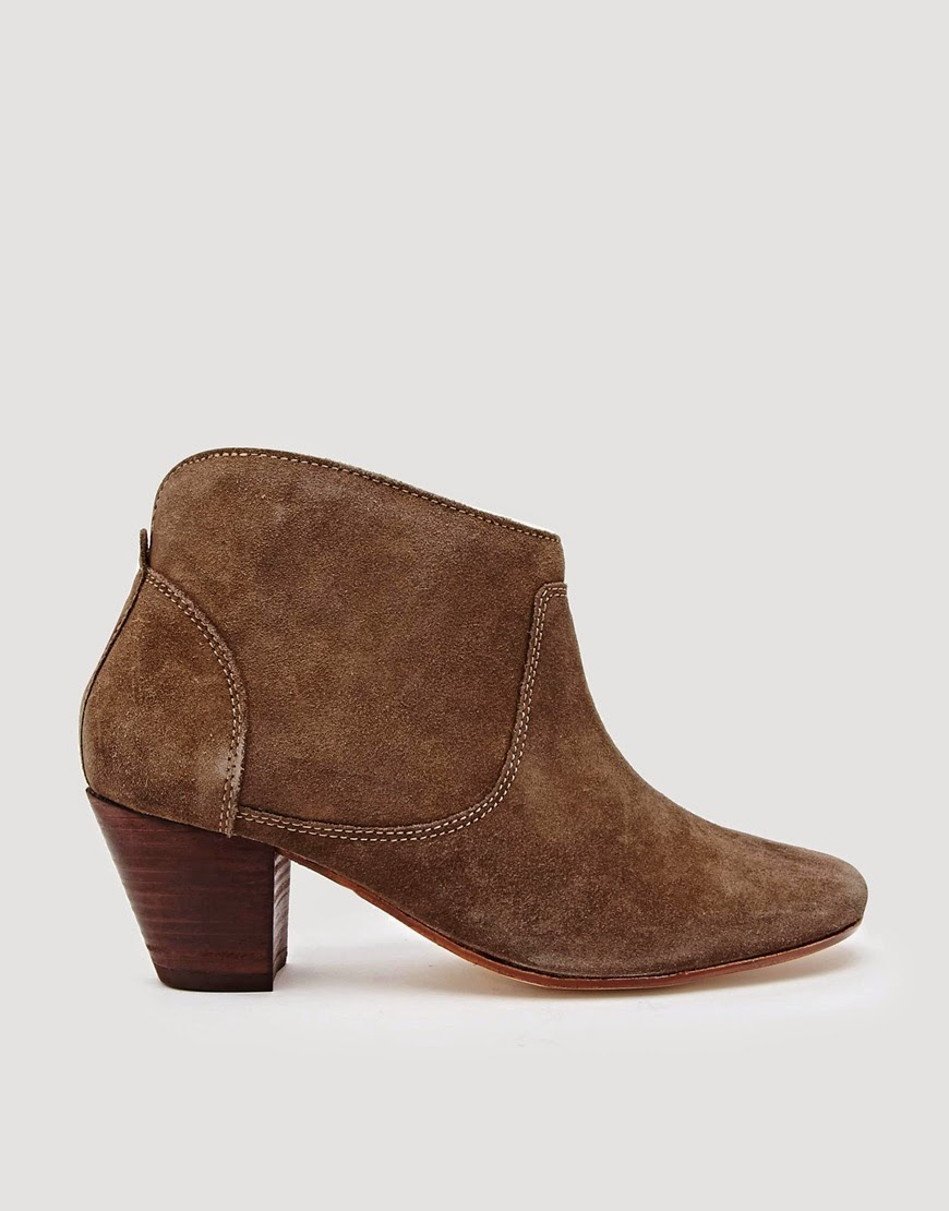 hudson tan suede ankle boot