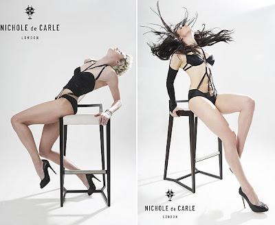 franscesca-snell-and-vicki-hawkins-sexy-lingerie-model-nichole-de-carle-london-2012-calendar-pic