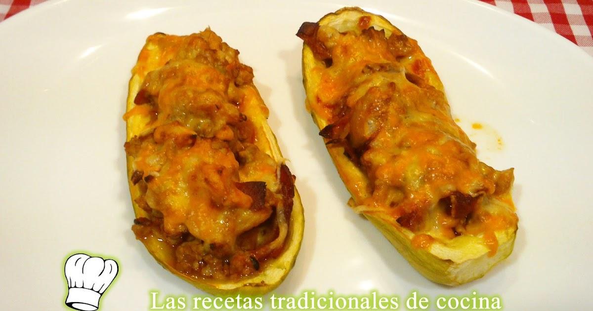 Receta de calabacines rellenos de carne recetas de cocina con sabor tradicional - Salsa para relleno de carne ...