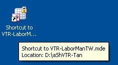 Properties của Shortcut dùng cho LaborMan