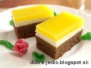 Tvarohový koláč so želatínou - recept