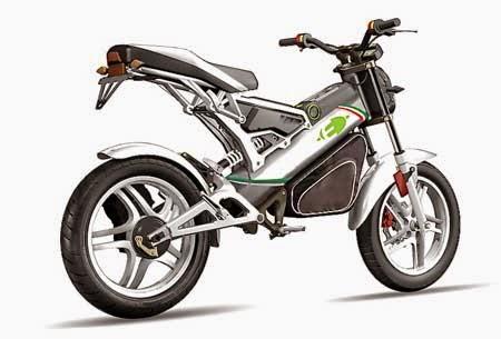 motor listrik VMoto jenis trail