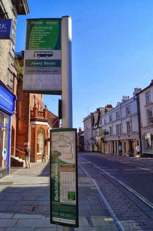 parada de bus park and ride de Winchester