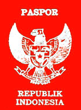Gambar 2.8 Paspor yang dikeluarkan oleh Pemerintah Indonesia