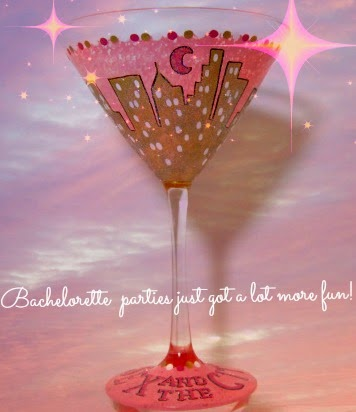 Sex In The City Painted Martini Glass via Kudos Kitchen by Renee