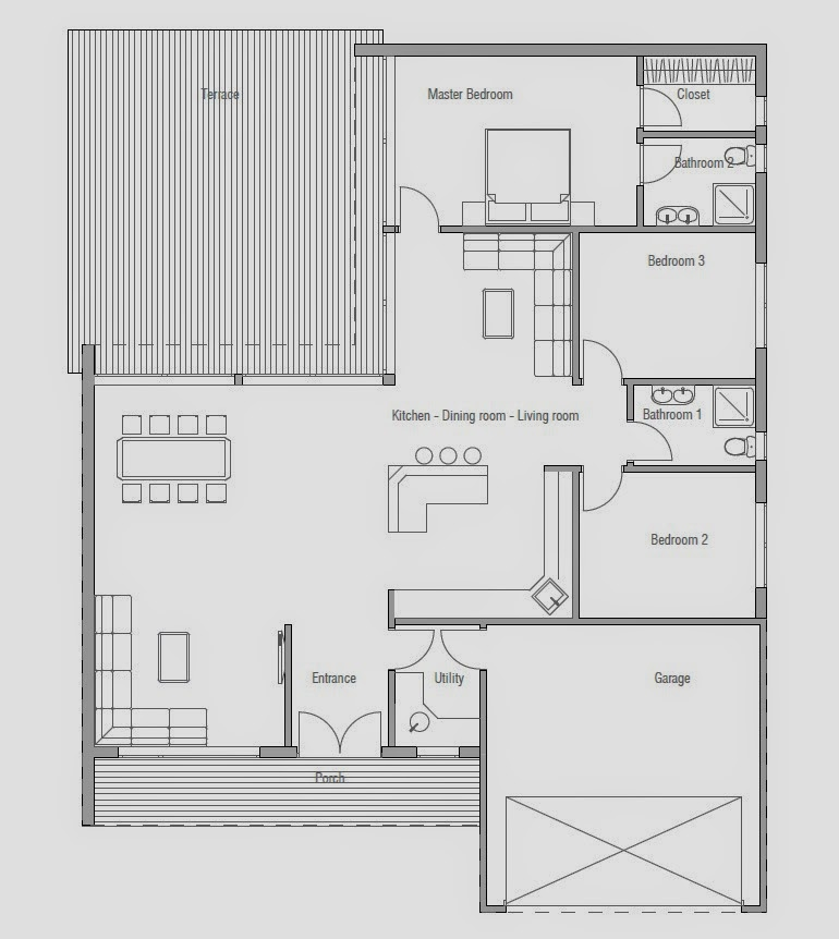 Ch167 small modern beach house plan beach house plans for Contemporary beach house plans