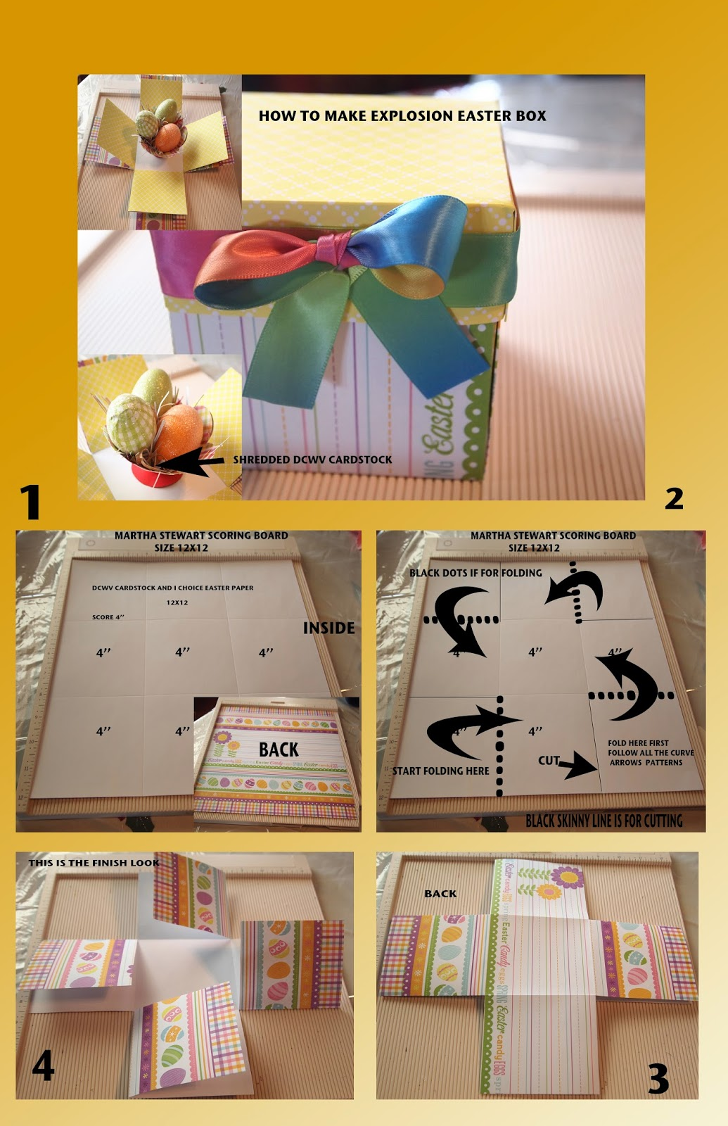 Diy crafting how to make explosion easter gift box how to make explosion easter gift box negle Gallery