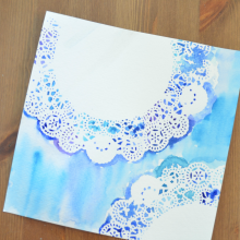Easy Doily Watercolor