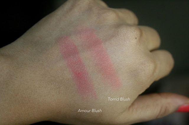 NARS Blush Refills -  Sex Appeal, Torrid, Luster, Amour Swatches