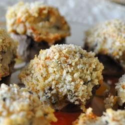 bridal shower appetizers - stuffed mushrooms
