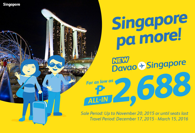 Cebu Pacific Promo Davao to Singapore
