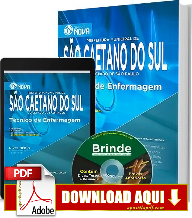 Apostila Prefeitura de São Caetano Técnico de Enfermagem PDF Download Grátis