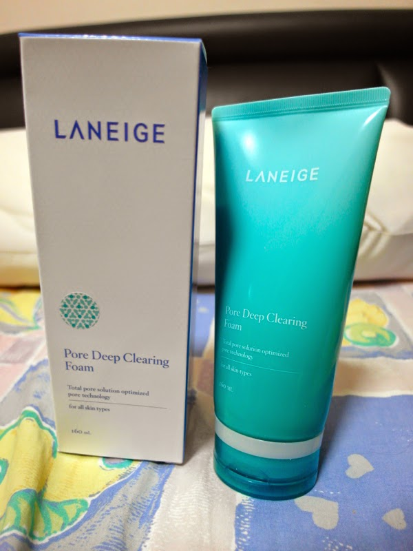 Laneige Pore Deep Clearing Foam Review lunarrive singapore blog