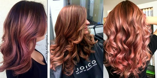 Soft Rose Gold Hair Color Flare