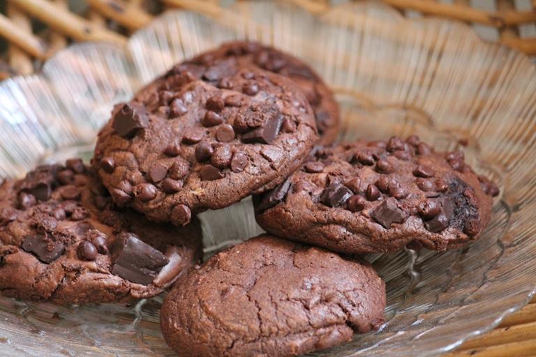 Chocolate Fudge Cookies Recipe / Triple Chocolate Cookies Recipe