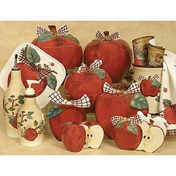 Iphone apple kitchen decor for Apple kitchen decoration set