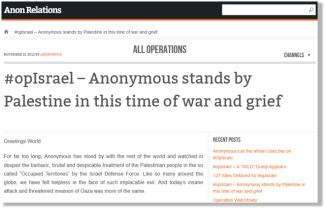 Anonymous Godam Hampir 600 Laman Web Israel Sebagai Balasan Serangan Ke Atas Gaza