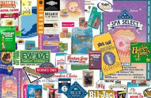 Many pet food labels