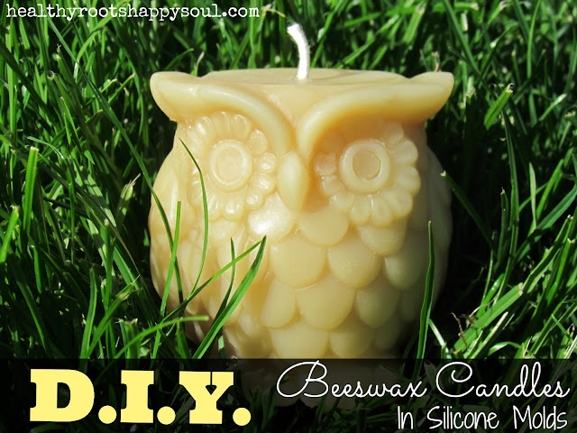 Learn how to make your own toxic-free beeswax candles in silicone molds! It's easier than it sounds.