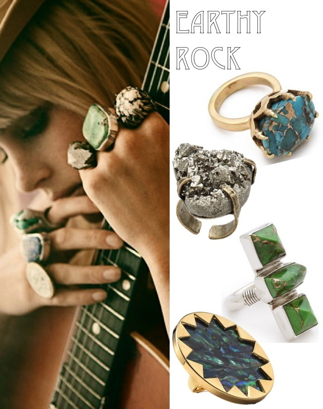 statement stone rings