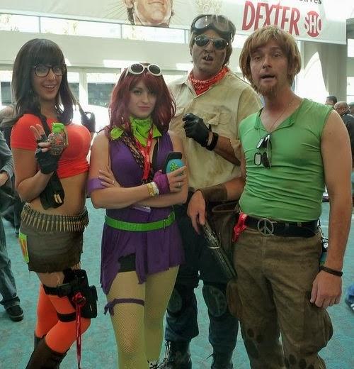 Cosplay apocalíptico de la compañía de Scooby Doo