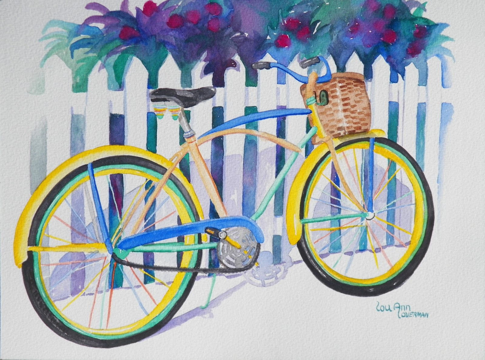 Paint a thousand words florida keys vintage bicycle for Bicycle painting near me