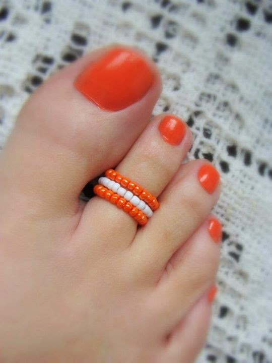 Foots Nails and Matching Rings.