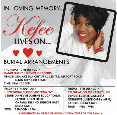kefee burial arrangement