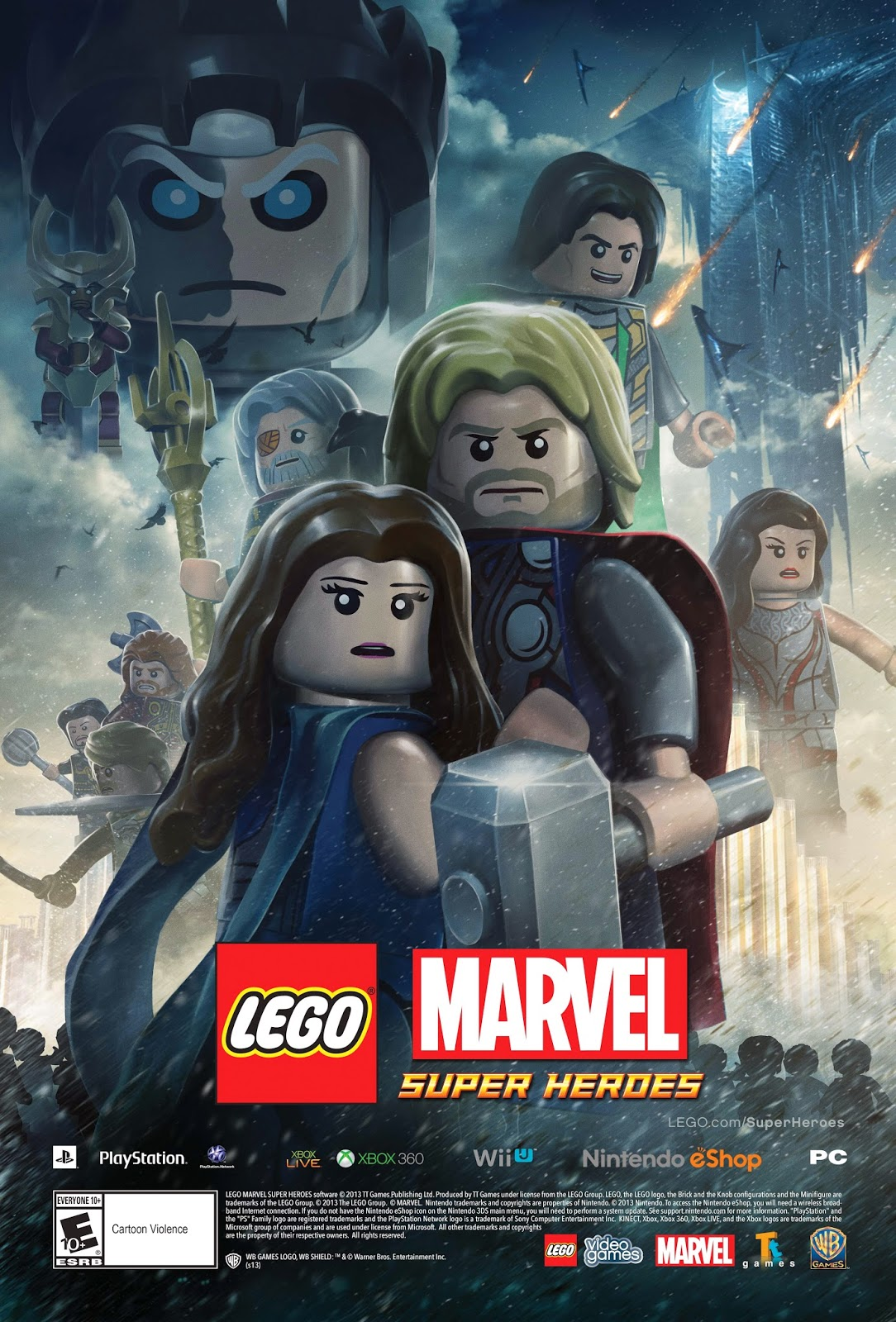 collecting toyz lego thor the dark world movie poster lego marvel super heroes at nycc. Black Bedroom Furniture Sets. Home Design Ideas