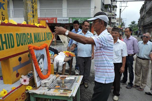 Salbari Sewa Samaj Siliguri Paid homage to Saheed Durga Malla on 'Balidaan Diwas'