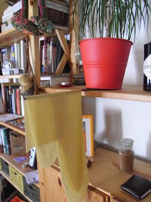 Secando láminas de pasta fresca casera