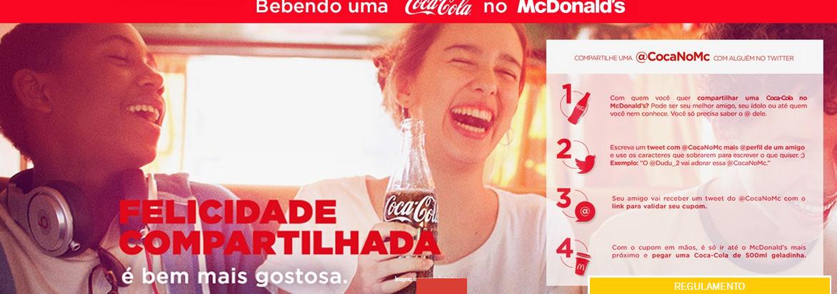 Promoção Coca - Cola de Graça no McDonald's