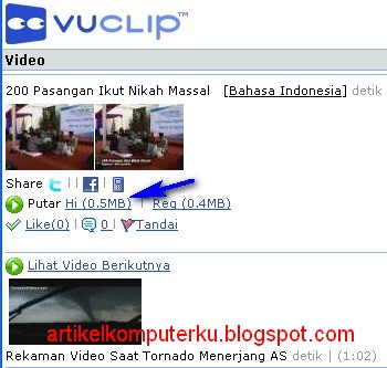 Cara download video youtube 3gp di vuclip
