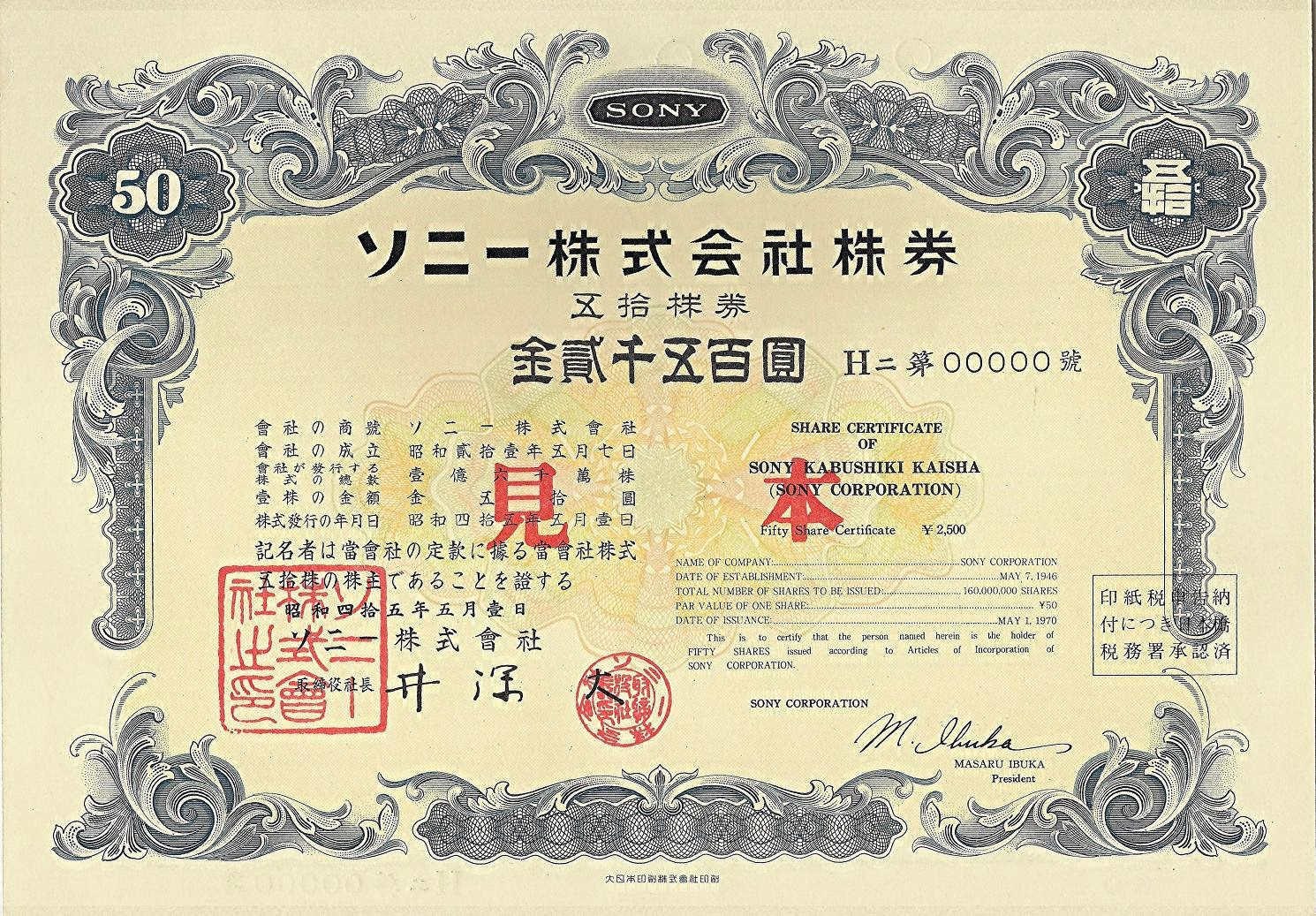 Frankys Scripophily BlogSpot Reading Japanese dates on stock – Company Share Certificates