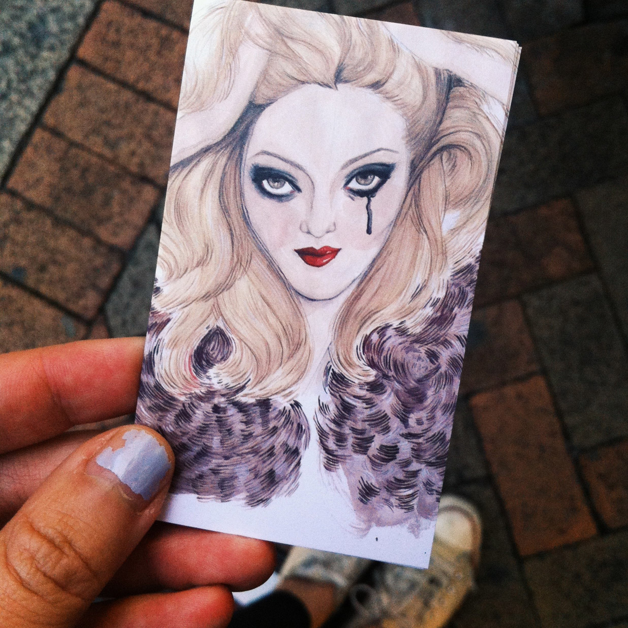 Kitty N. Wong / Cat Marnell painting business card