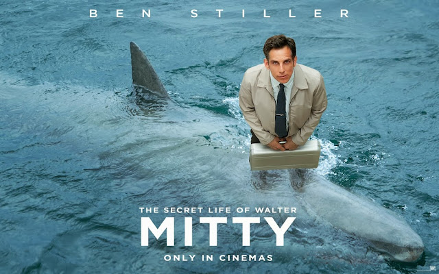 The secret life of walter mitty fighting with shark