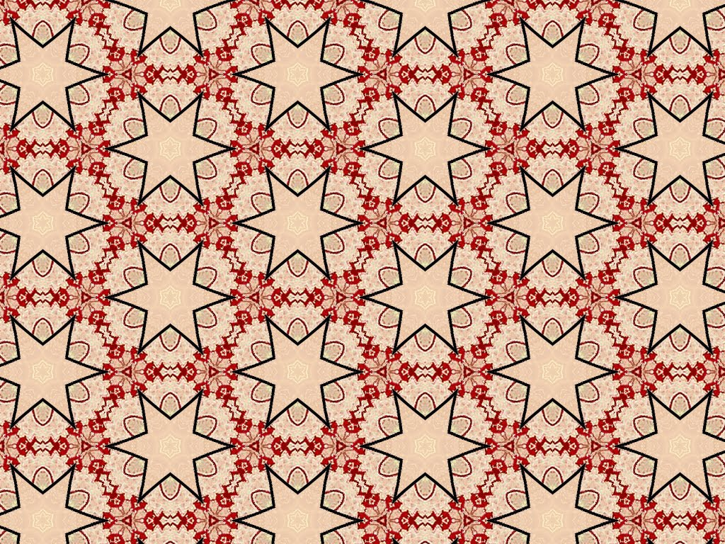 Set MM19 - Red Cream Tapestry - Five different background patterns