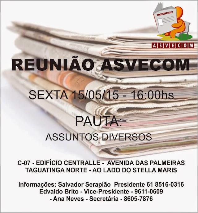 REUNIÃO ASVECOM