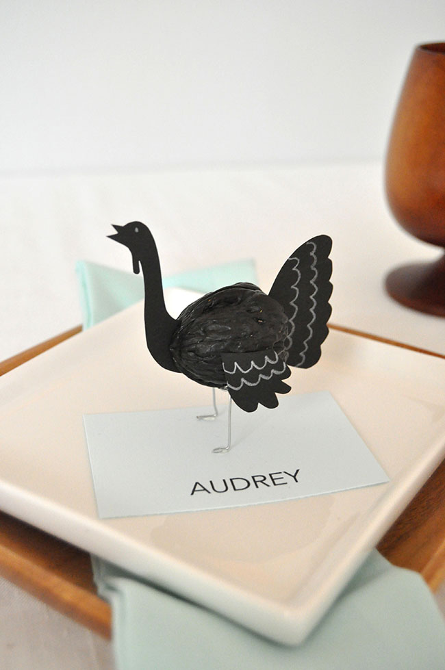 Walnut Turkey Placecards