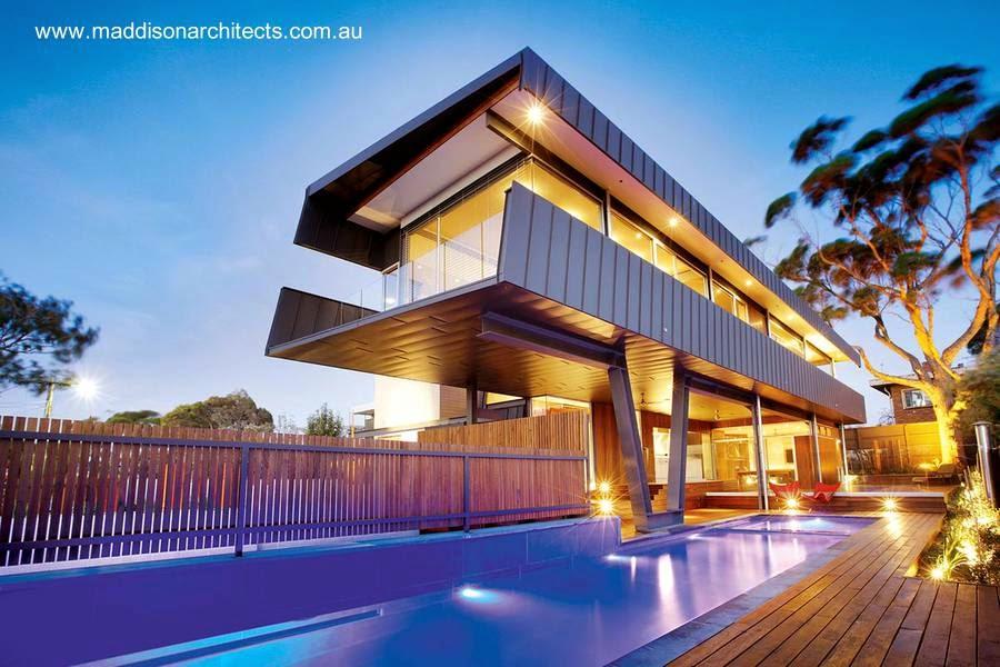 Casa volada contemporánea en Melbourne, Australia