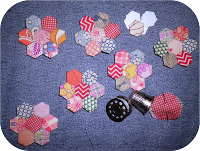Vintage Tiny EPP Hexagons