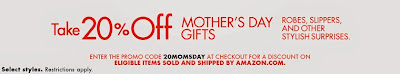 Mother's Day Clothing - 20% off - Amazon promo code