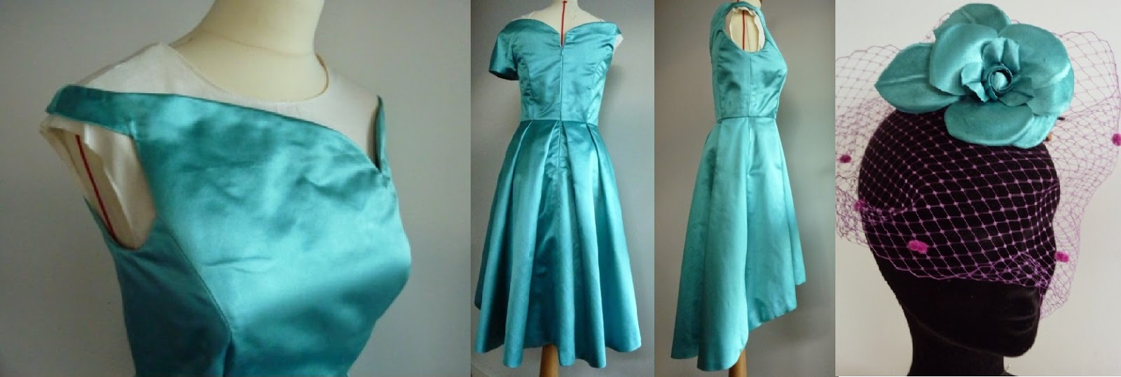 Robe de cocktail en soie par créatrice couturière à Versailles 78