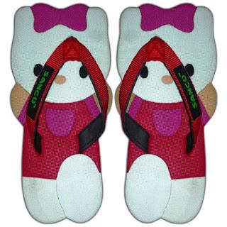 Sandal Lucu Karakter Hello Kitty