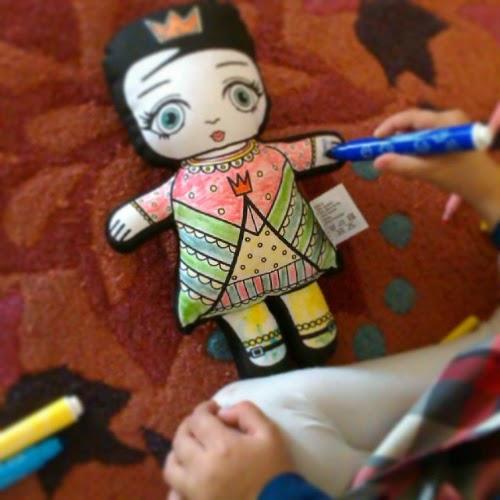 Υφασμάτινη κούκλα για ζωγραφική, από το Little Closet
