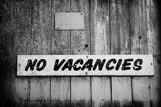 no vacancies, urban photography, black and white, photo, Sam Freek,